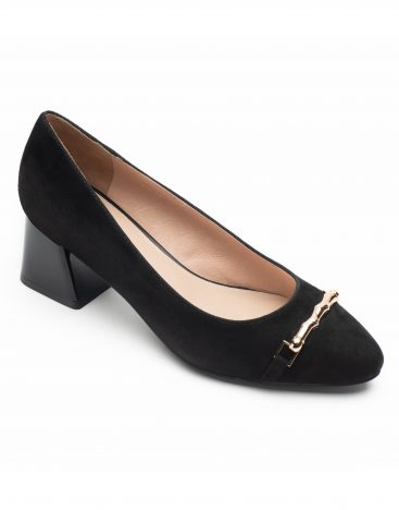 Heel _ Buckle London-Shoes-LT8133-3-Closed block heels-Black-2