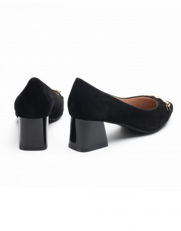 Heel _ Buckle London-Shoes-LT8133-3-Closed block heels-Black-3