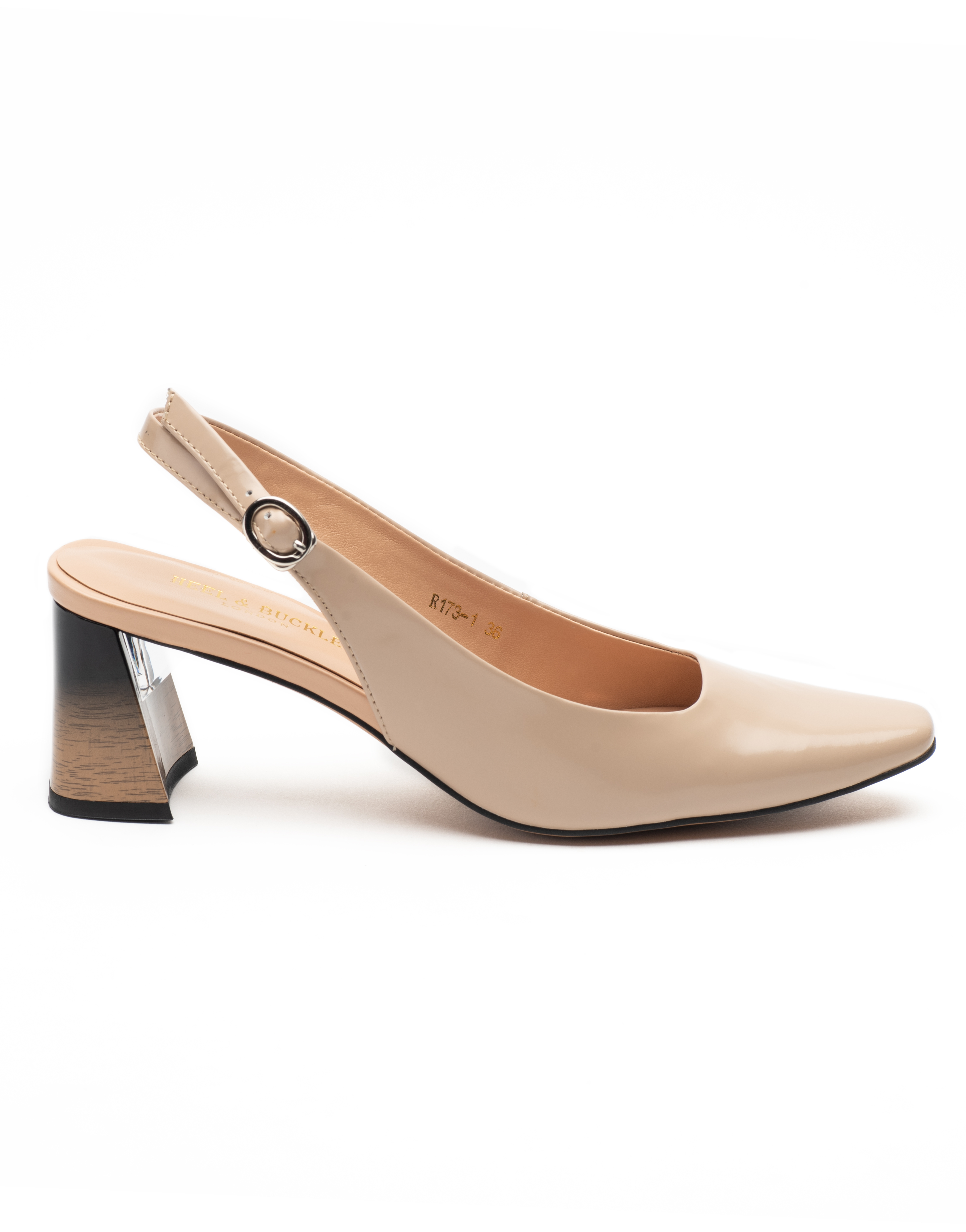Heel _ Buckle London-Shoes-R173-1-Closed block heels-Tan-1