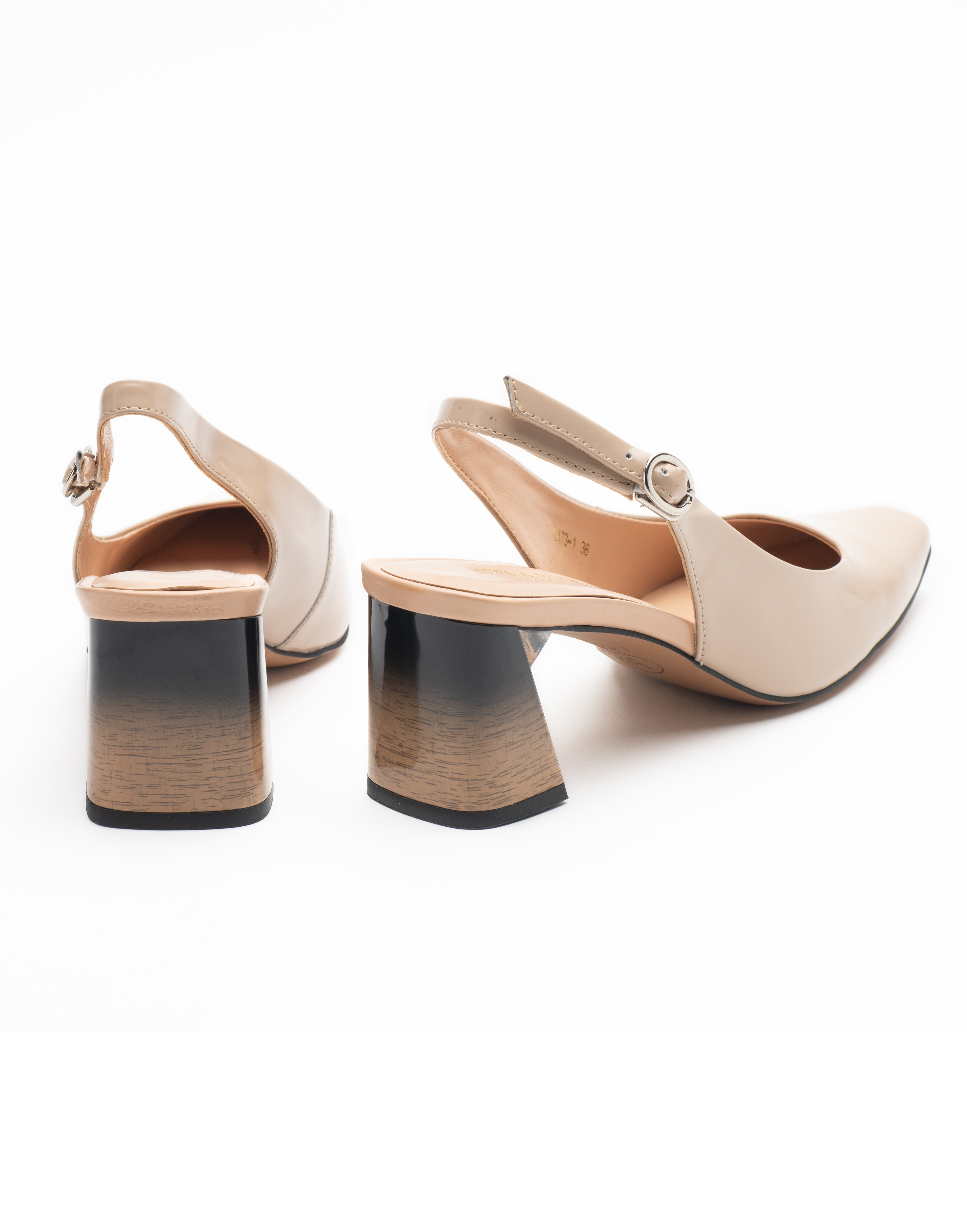 Heel _ Buckle London-Shoes-R173-1-Closed block heels-Tan-3