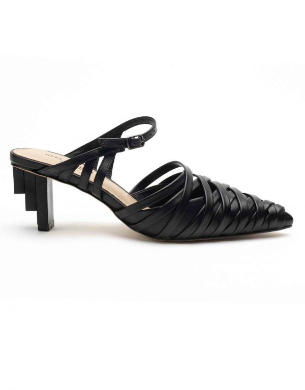 RE Heel _ Buckle London-Shoes-HBDARW085-Asymmetrical Beige Strappy Sandals-Black-1 (1)