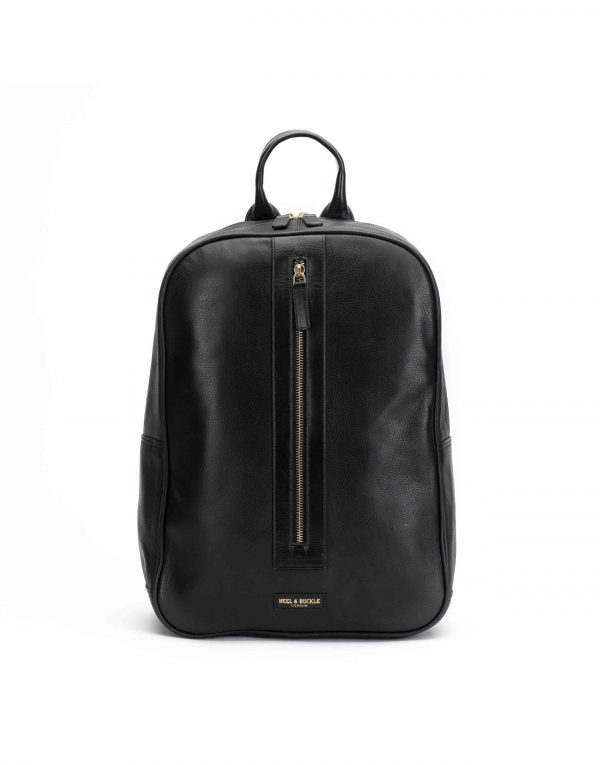 Black Center Zip Backpack1