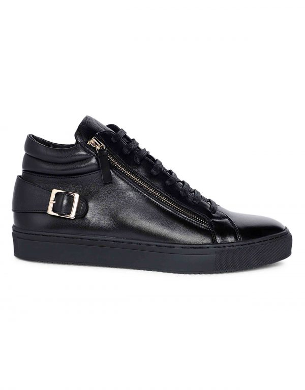 Black High Top Sneaker 1