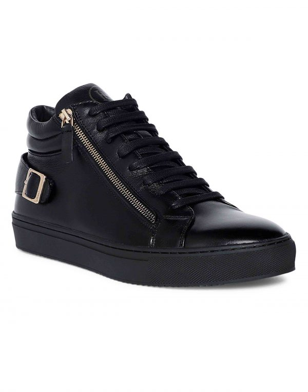 Black High Top Sneaker 2