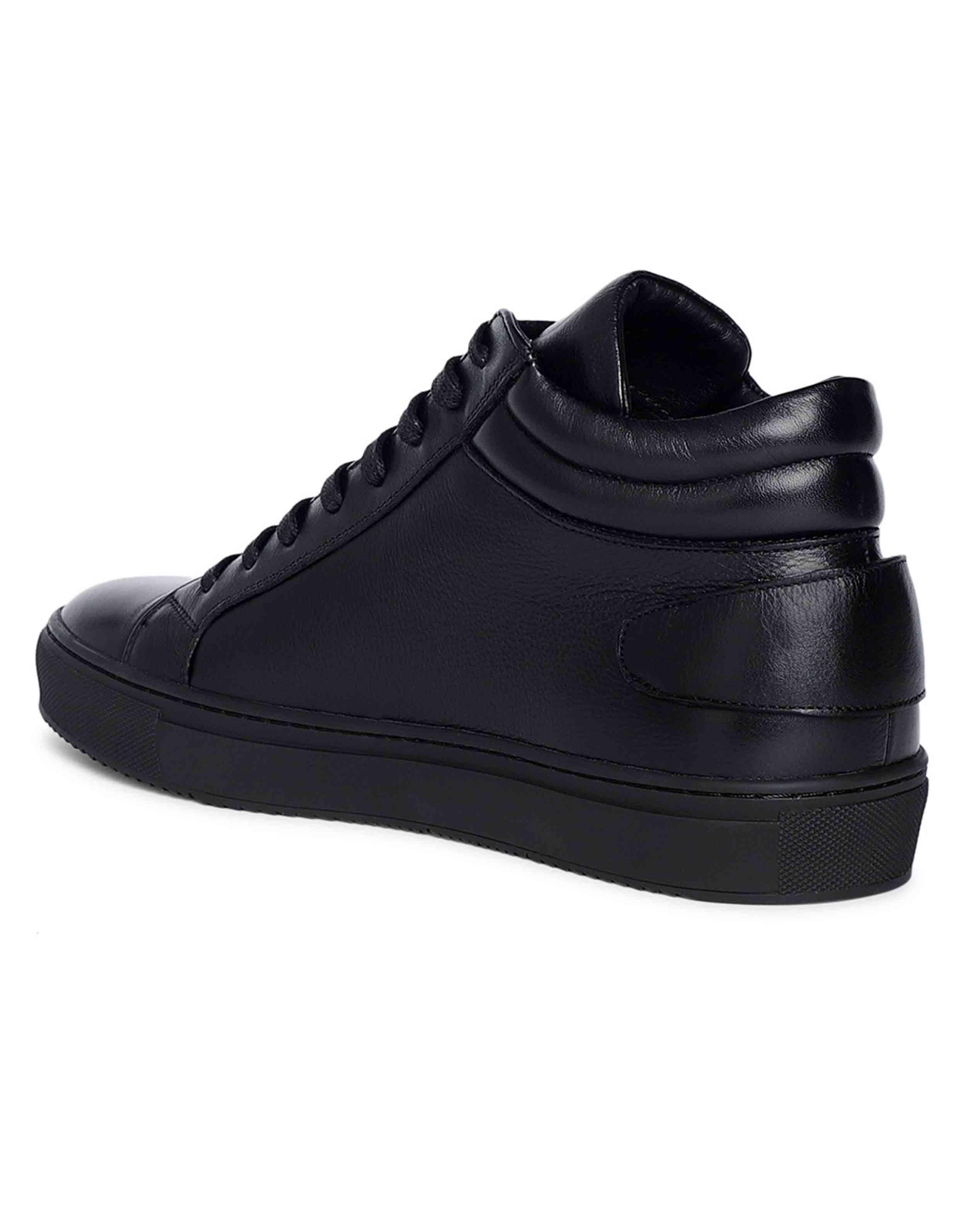 Black High Top Sneaker 3