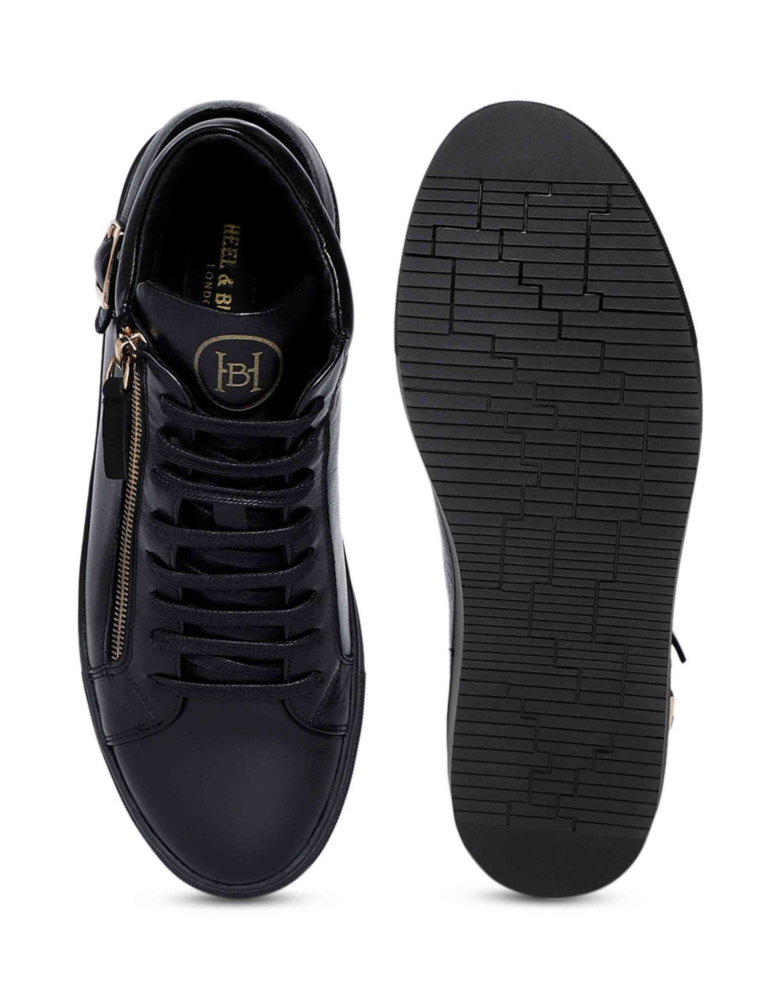 Black High Top Sneaker 4
