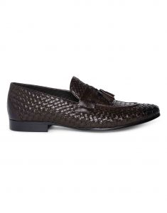 Brown Woven Tassel Loafer 1