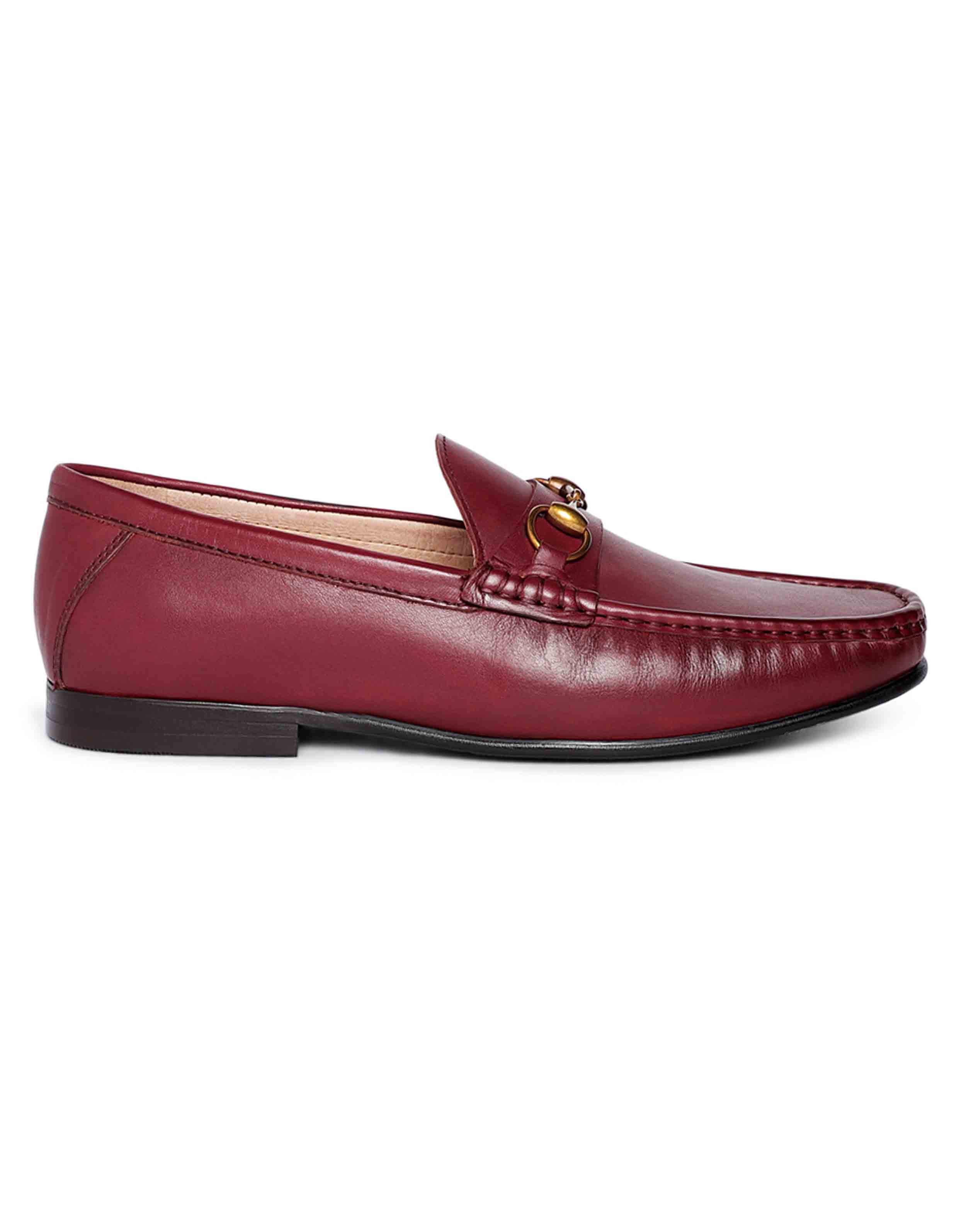 Burgundy Horse-bit loafer 1