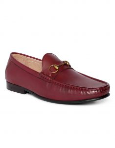 Burgundy Horse-bit loafer 2