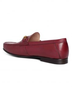 Burgundy Horse-bit loafer 3