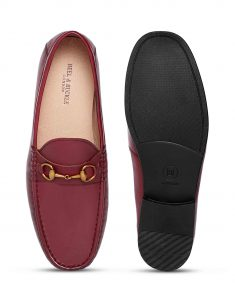 Burgundy Horse-bit loafer 4