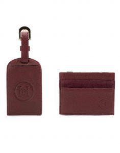 Burgundy Magic Wallet _ Luggage Tag Set3