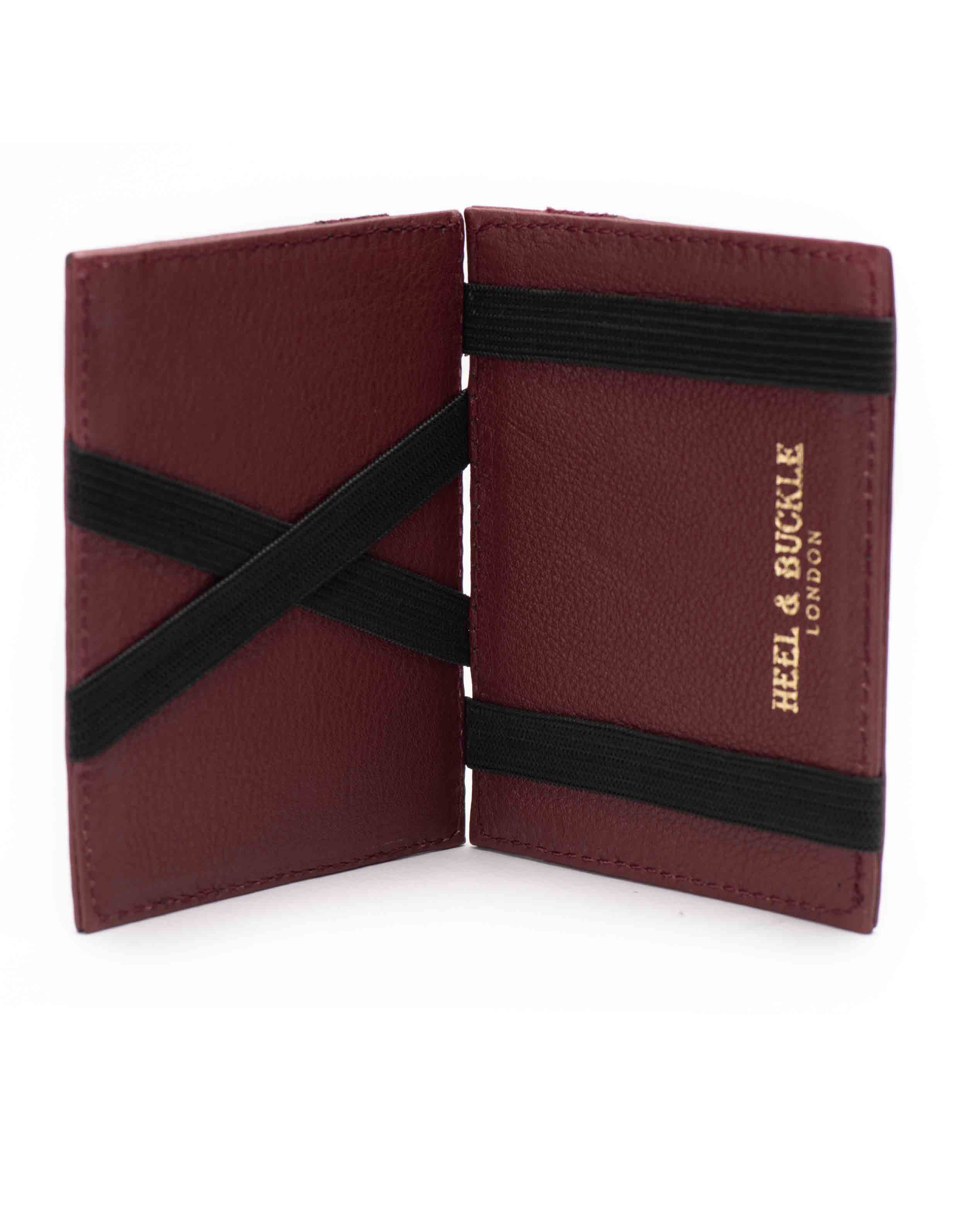 Burgundy Magic Wallet _ Luggage Tag Set4