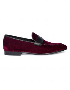 Burgundy penny Loafer 1