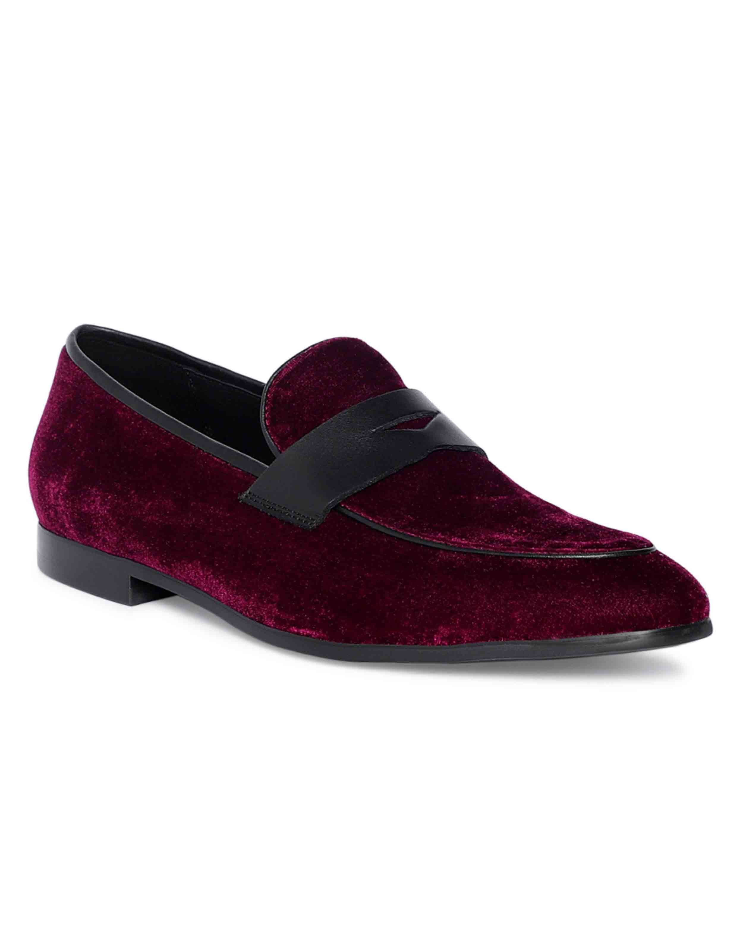 Burgundy penny Loafer 2