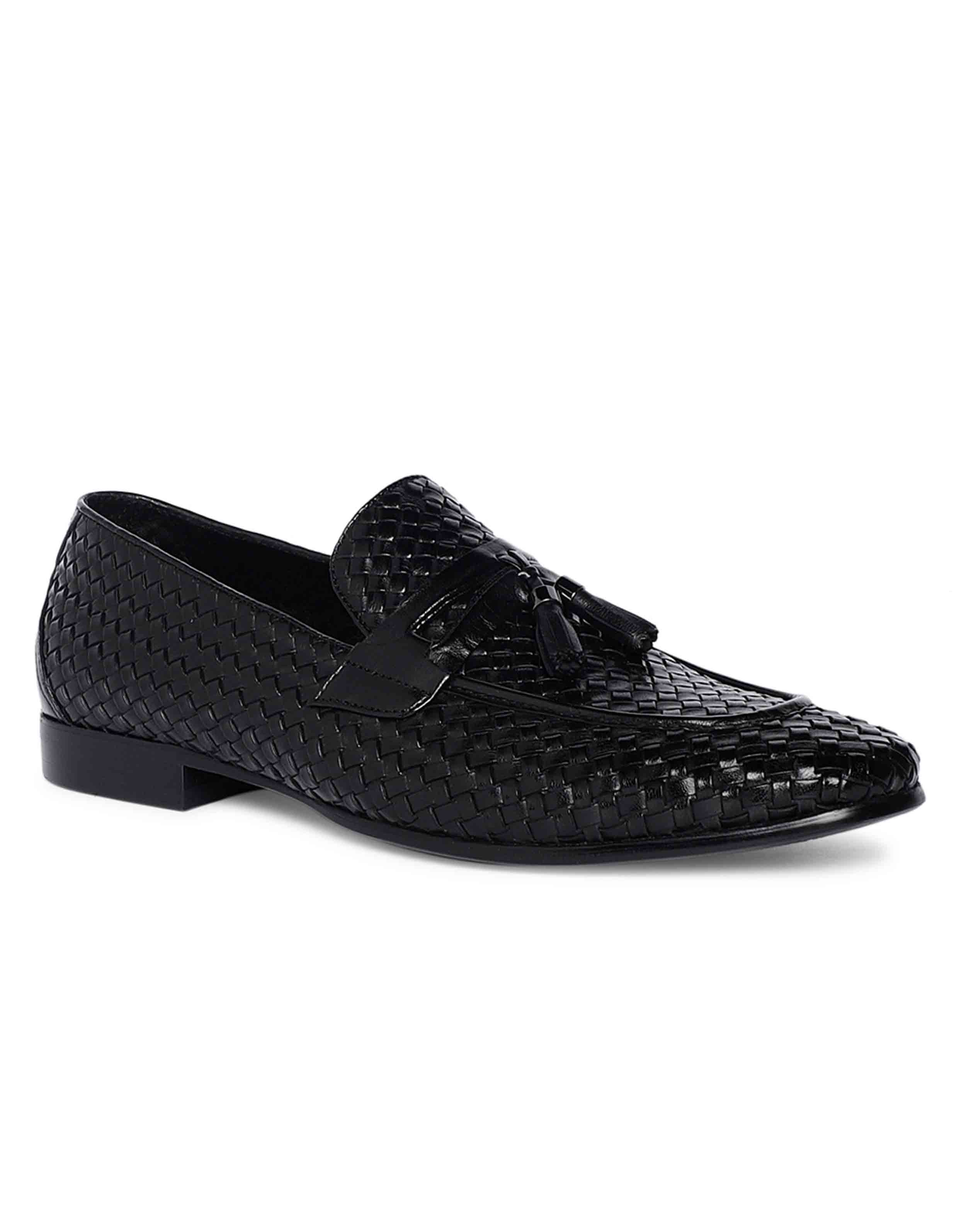 Charcoal Woven Tassel Loafer 2