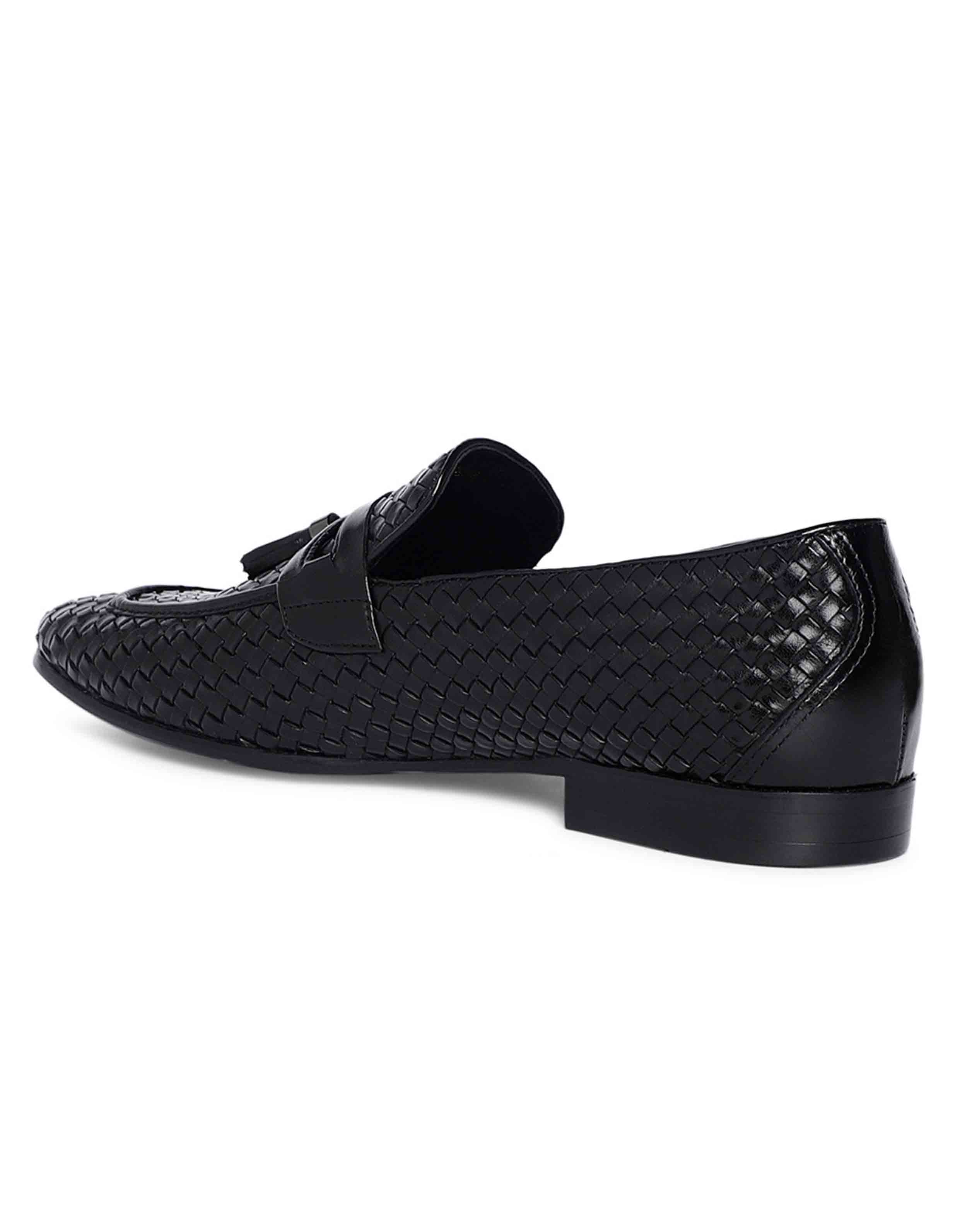 Charcoal Woven Tassel Loafer 3