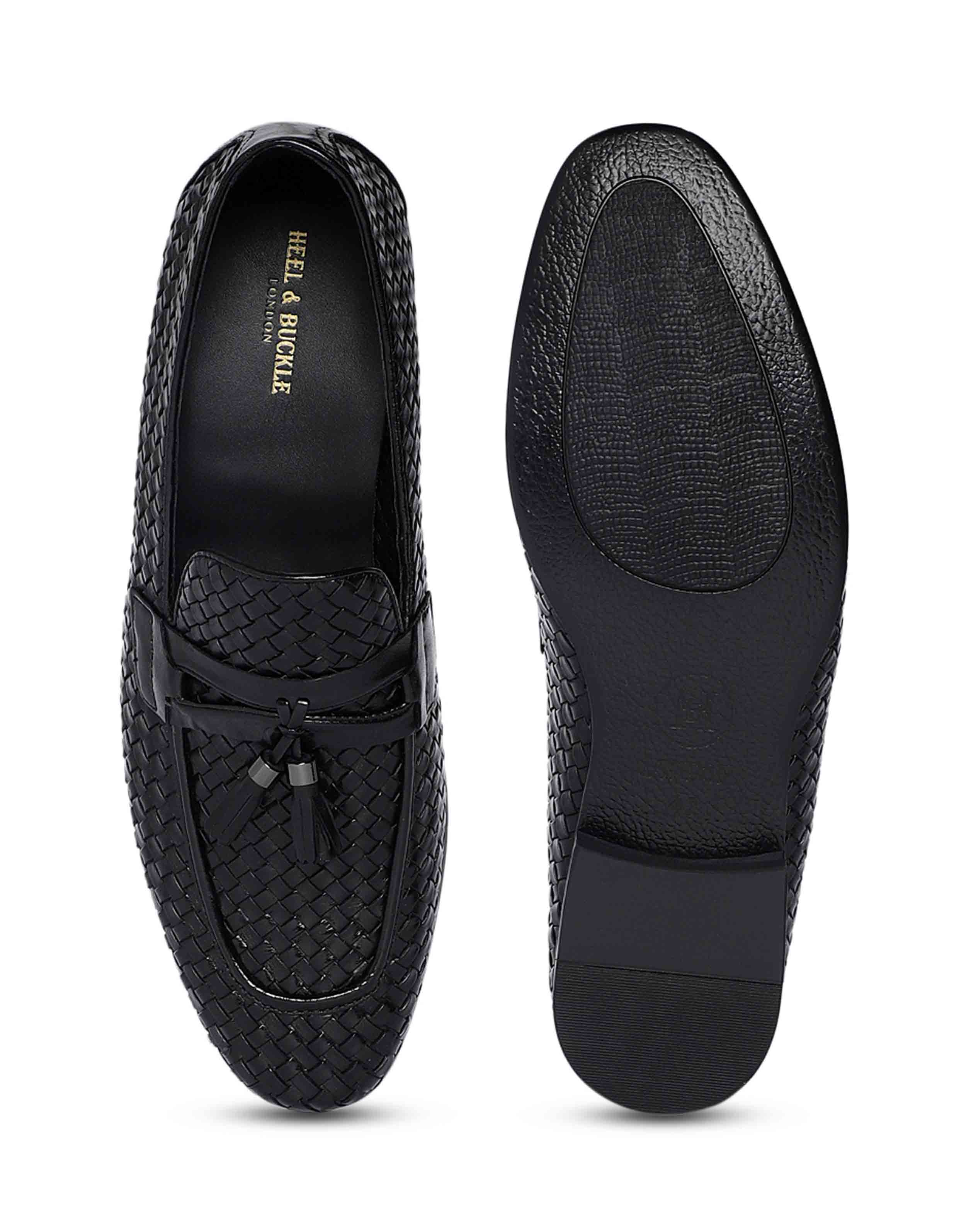Charcoal Woven Tassel Loafer 4