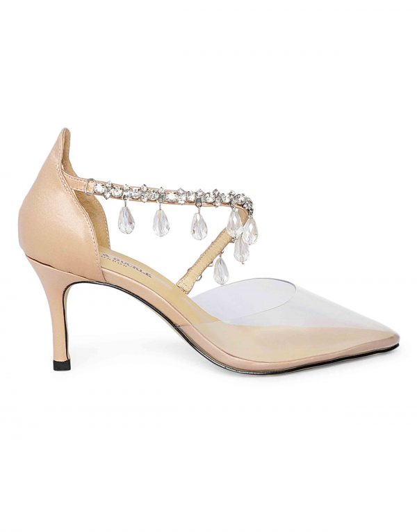 Clear Studded Sandals1