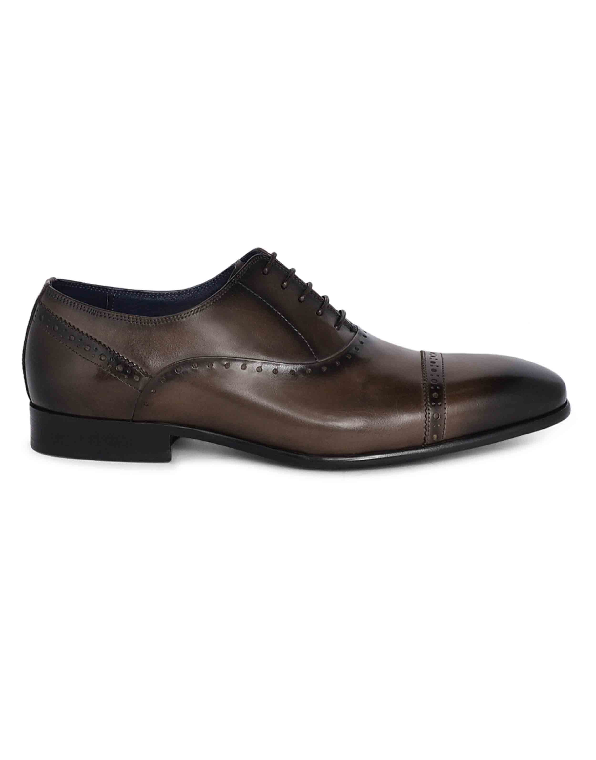 Grey medallion wingtip oxfords1