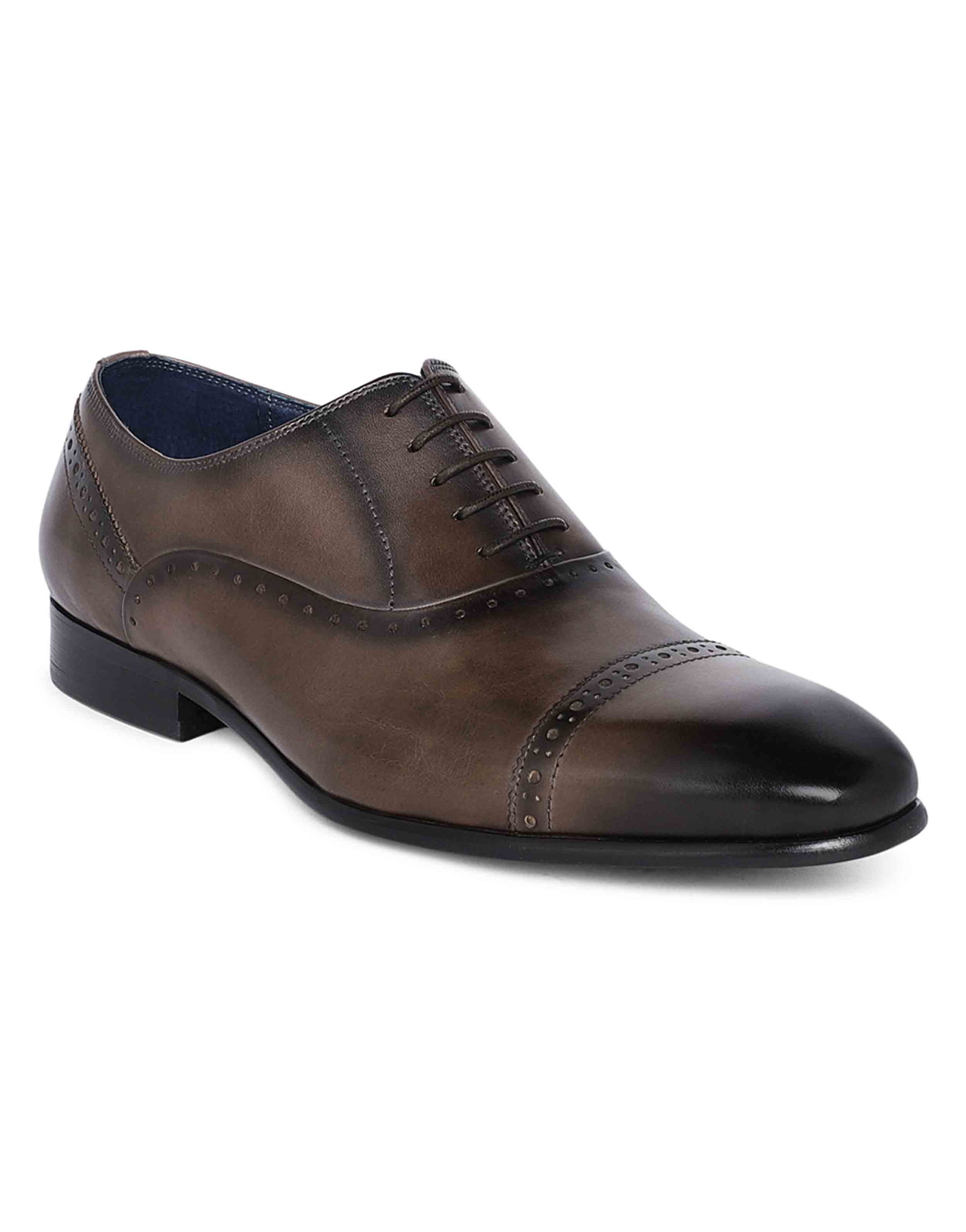 Grey medallion wingtip oxfords2