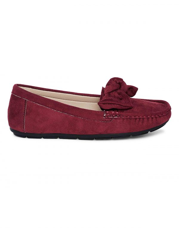 Maroon Bow-Tie Loafers1