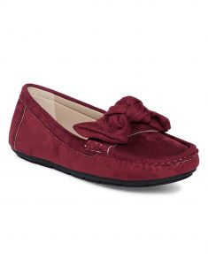 Maroon Bow-Tie Loafers2