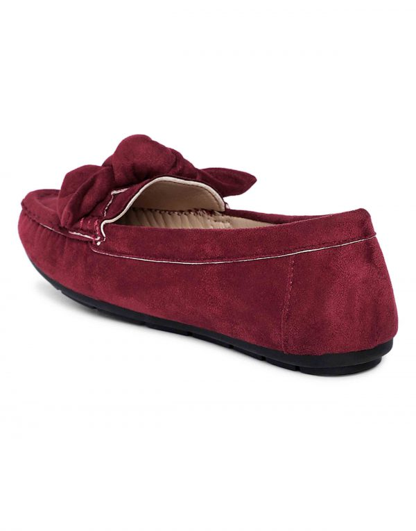 Maroon Bow-Tie Loafers3