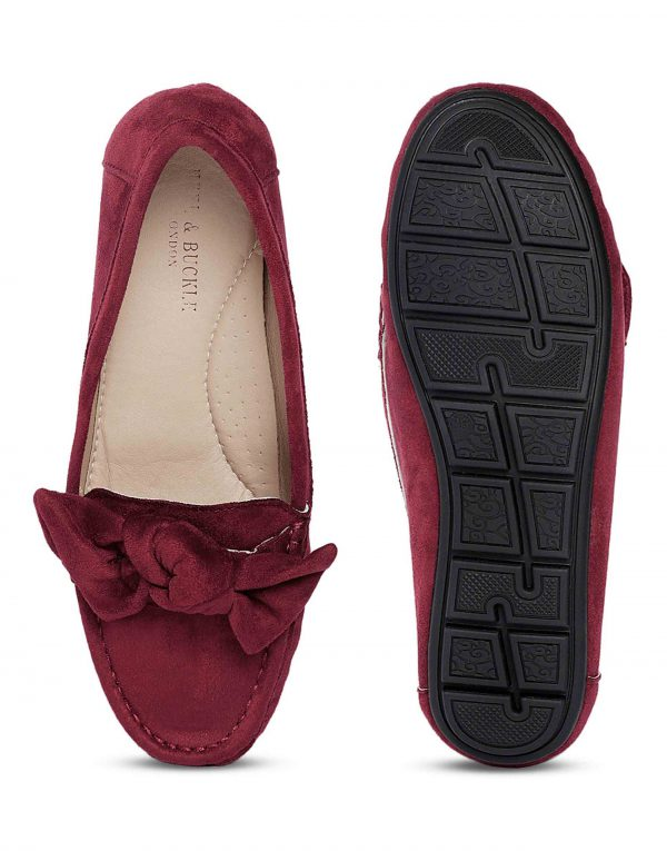 Maroon Bow-Tie Loafers4