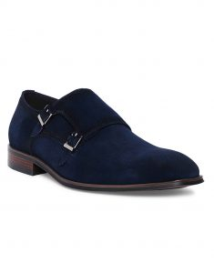 Navy Suede Double Monk 2