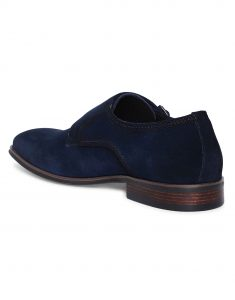 Navy Suede Double Monk 3