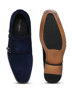 Navy Suede Double Monk 4