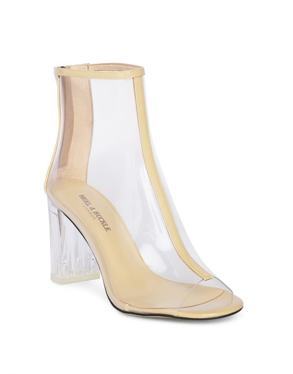 Nude Clear Glassy Peep-toe boots2
