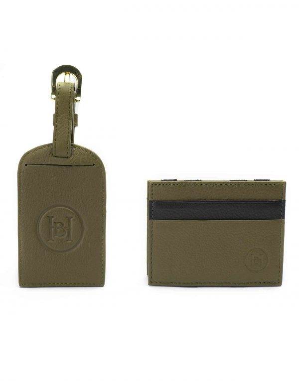 Olive Magic Wallet _ Luggage Tag Set1