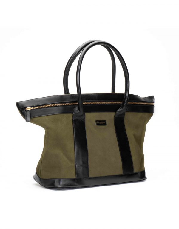 Olive Suede Tote2