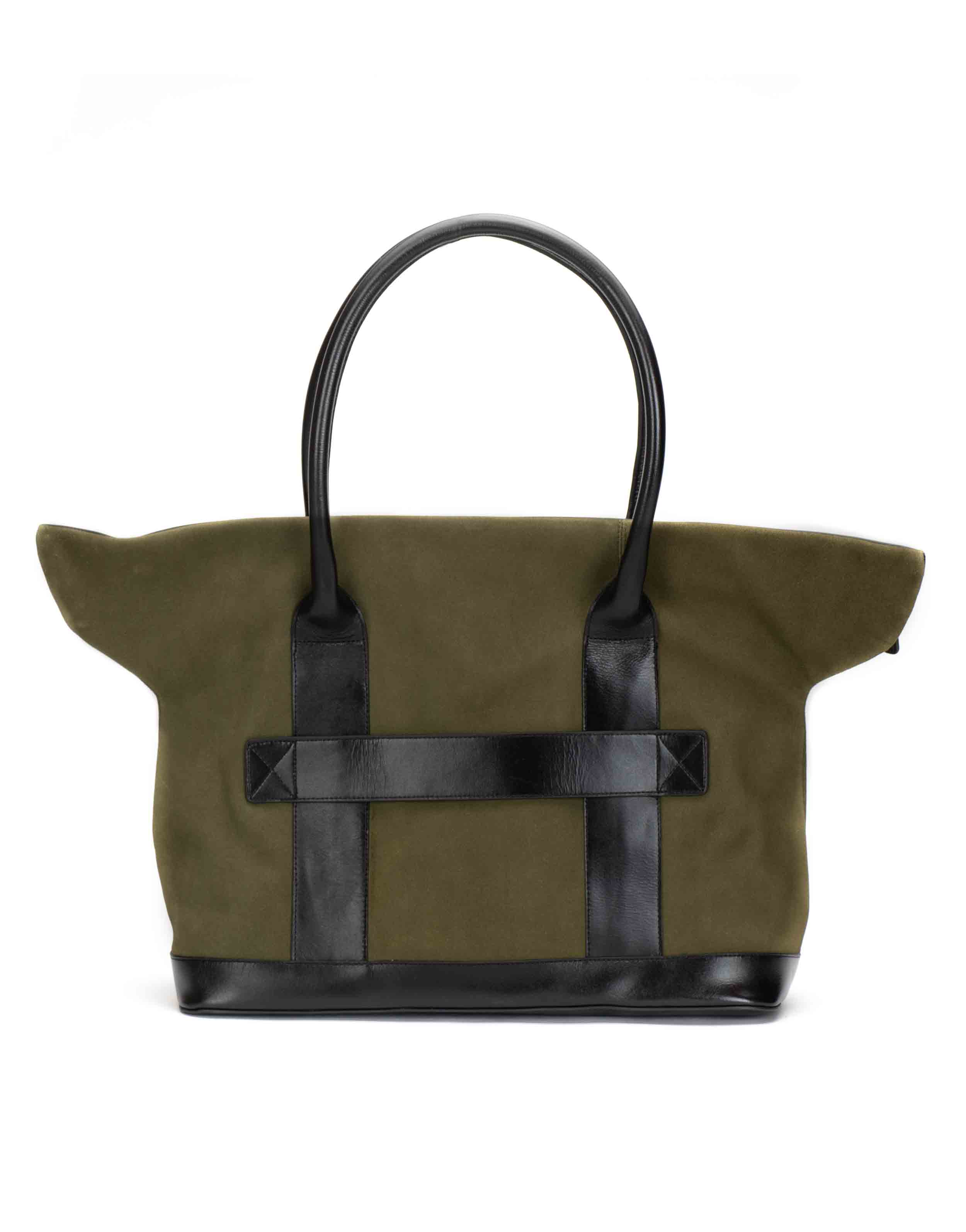 Olive Suede Tote3