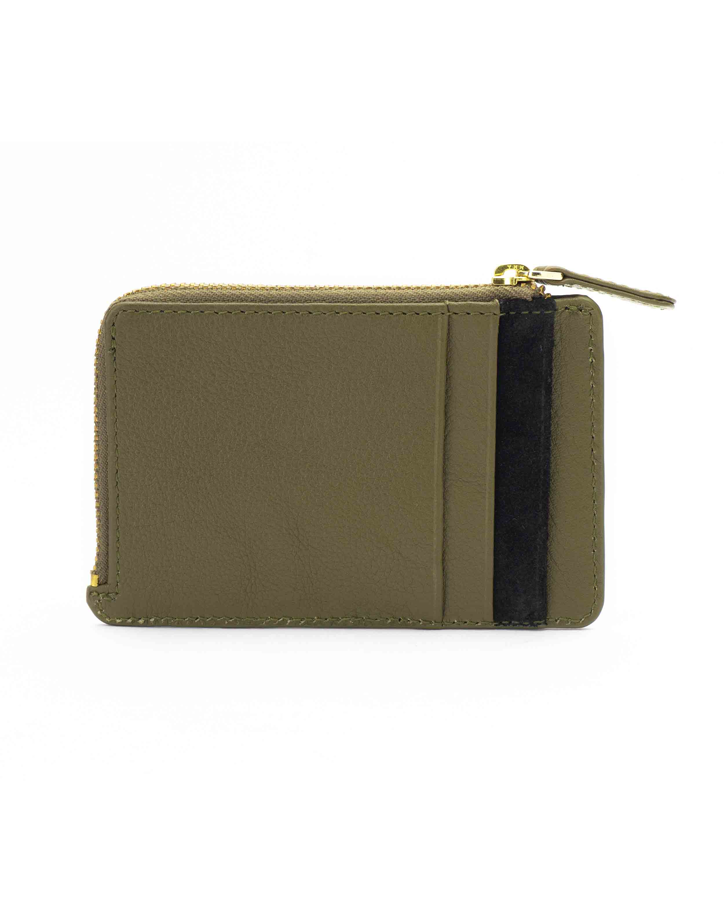 Olive and Black Card Holder2
