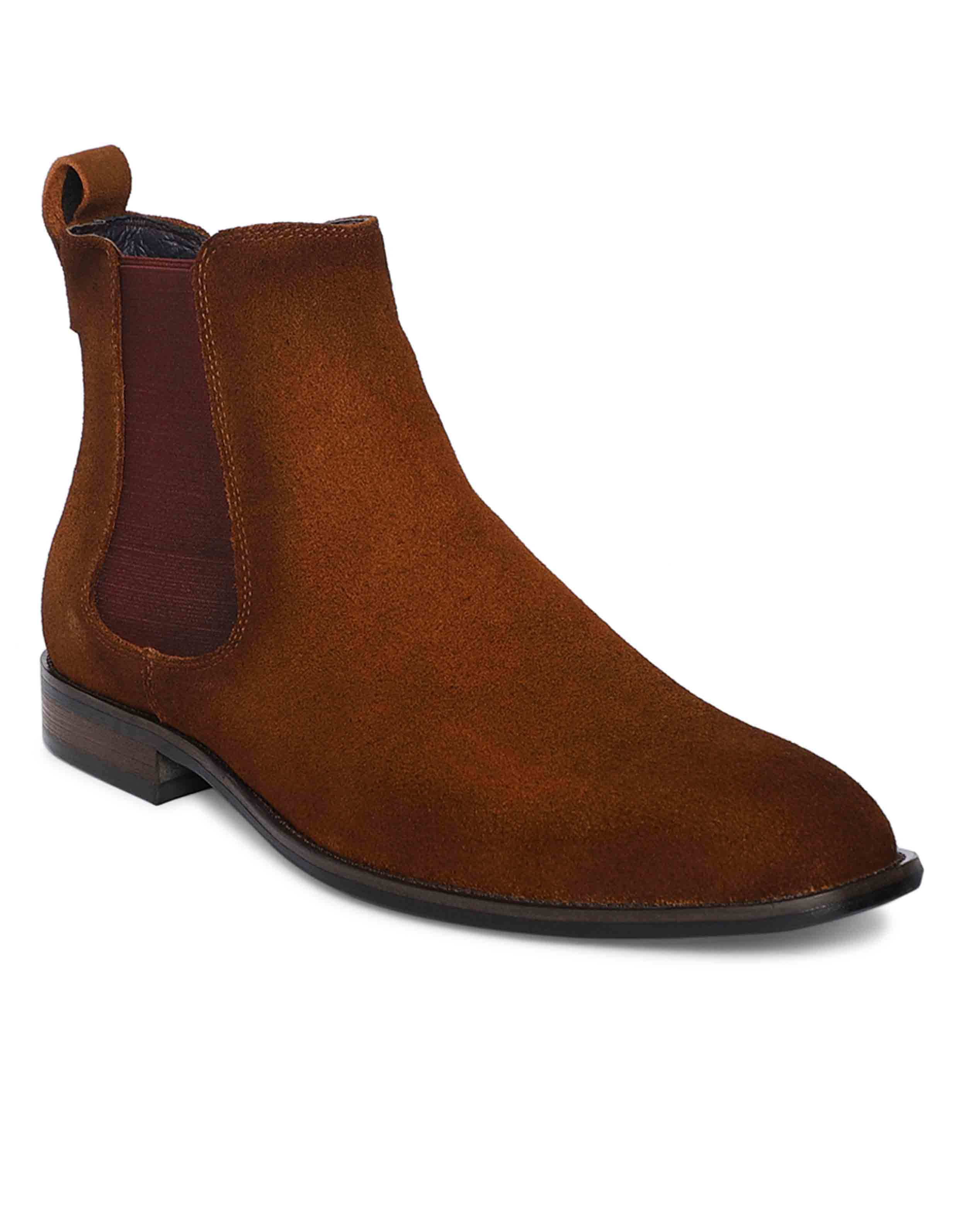Tan Suede Chealse Boots2