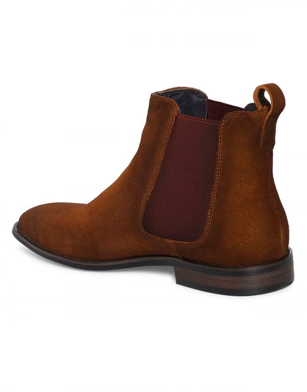 Tan Suede Chealse Boots3