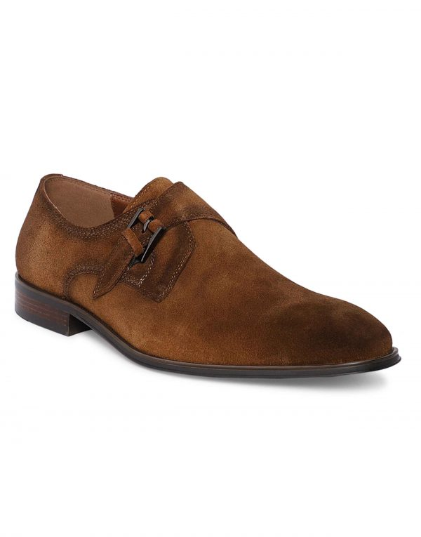 Tan Suede Single Monk 2