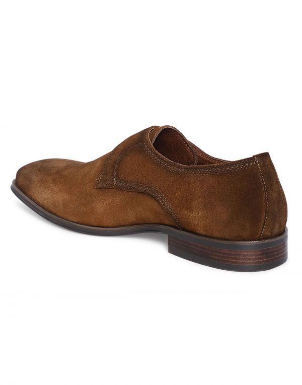 Tan Suede Single Monk 3