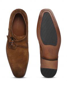Tan Suede Single Monk 4