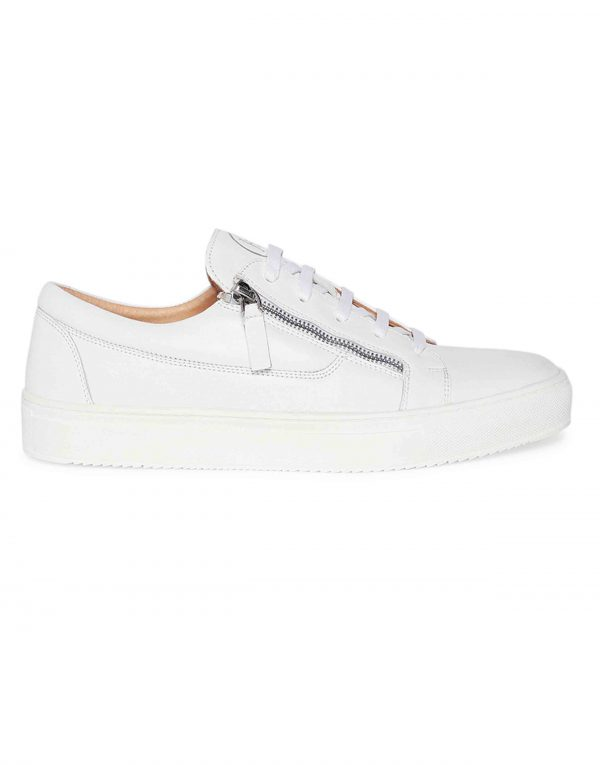 White Side Zip Sneaker 1