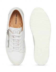 White Side Zip Sneaker 4