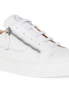 White Side Zip Sneaker 5