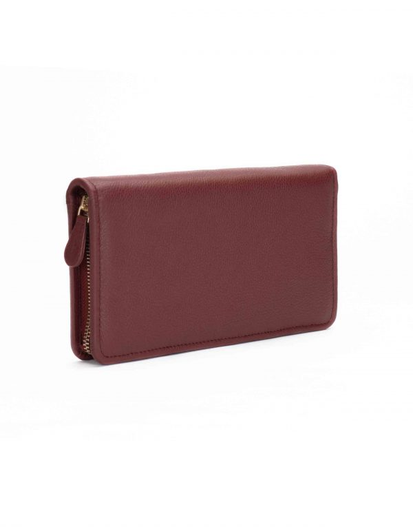 Burgundy Travel Wallet3