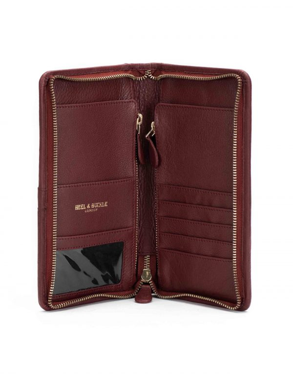 Burgundy Travel Wallet5