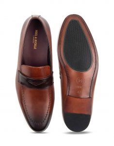 Heel _ Buckle London-HBDARM069-Classic brown mocassin-Brown-4