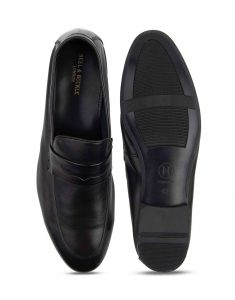 Heel _ Buckle London-HBDARM082-Ascetic Charcoal Loafers-Black-4