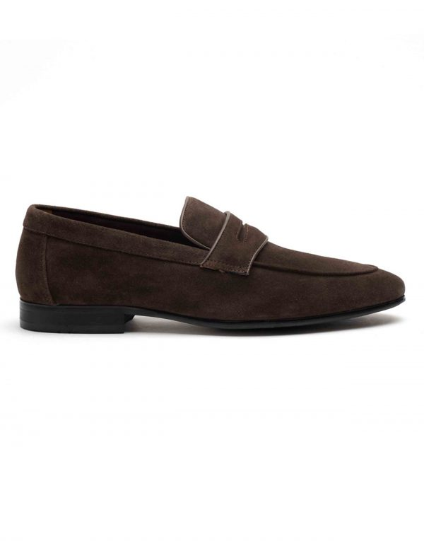 Heel _ Buckle London-HBDARM089-Mosey Brown Penny Loafers-1